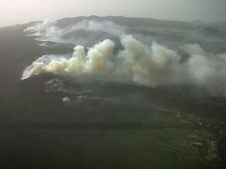 Arde el 11 % de La Gomera