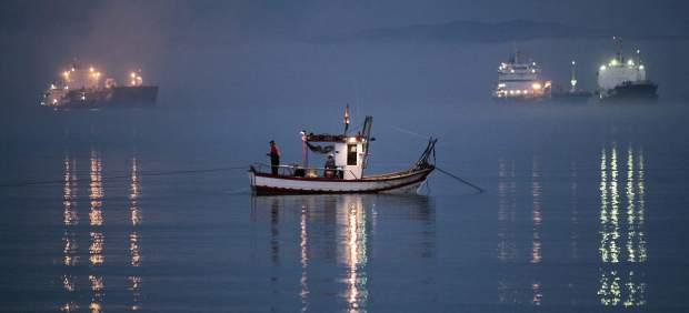 Los pescadores en Gibraltar