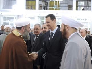 Al Asad en la fiesta del final del Ramadán