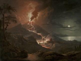 'Eruption of Vesuvius with Destruction of a Roman City, 1824'