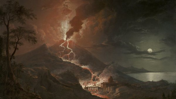'Eruption of Vesuvius with Destruction of a Roman City, 1824'