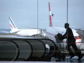 Viajero en el aeropuerto