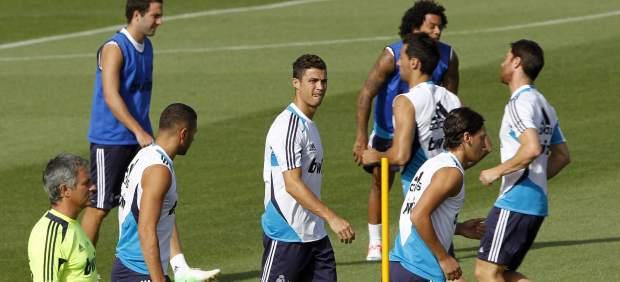 El Real Madrid entrenando