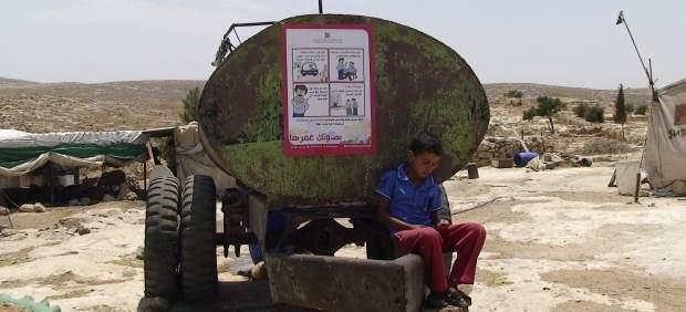 Palestinos sin agua