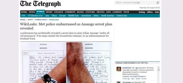 """Detener a Assange """"bajo cualquier circunstancia"""""""