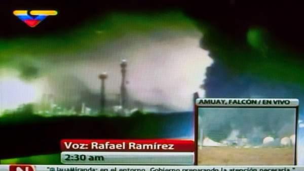 Explosión en una refinería venezolana