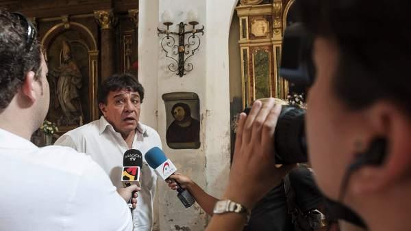 Alcalde de Borja ante el 'Ecce homo'
