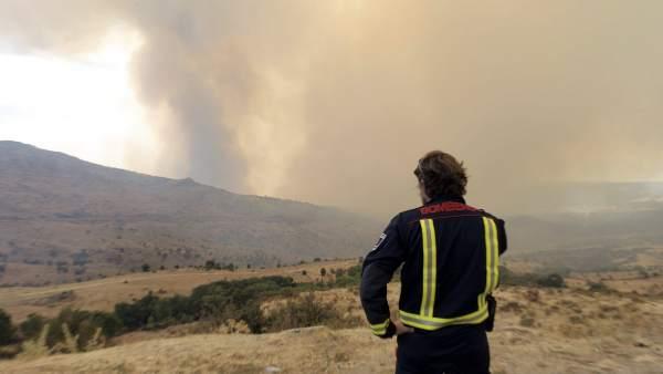 Incendio en Madrid
