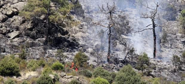 Incendio entre Robledo de Chavela y Valdemaqueda