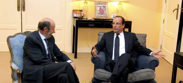 Rubalcaba y Hollande