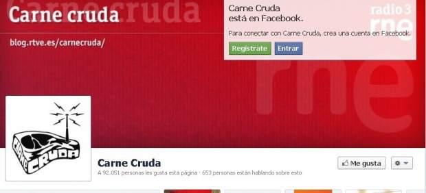 Facebook de Carne Cruda