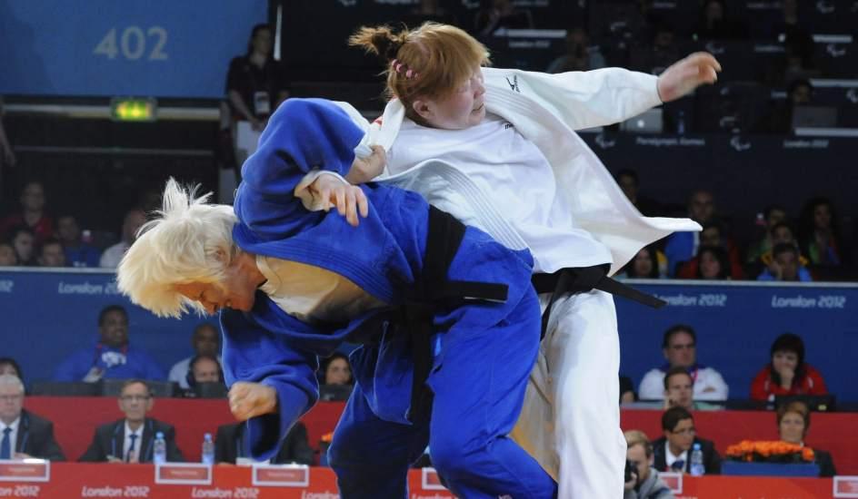 Carmen Herrera. La judoca Carmen Herrera, en los Juegos Paralímpicos de Londres 2012.
