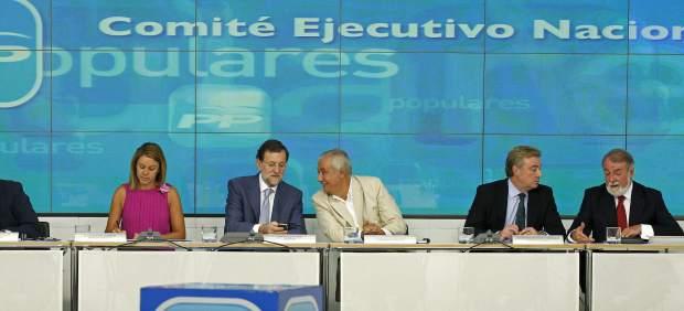 Dirigentes del PP en la reuni�n del Comit� Nacional Ejecutivo.