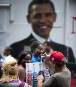 Cartel de Obama en Charlotte