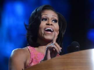Michelle Obama, en su discurso en la convención de Charlotte