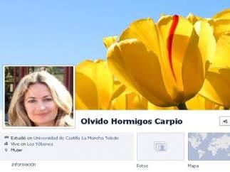 Perfil de Facebook de Olvido Hormigos