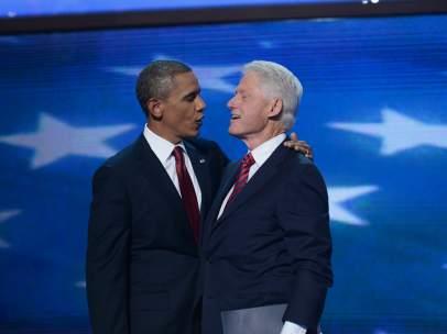 Obama y Bill Clinton