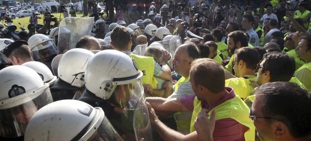 Policías en Grecia