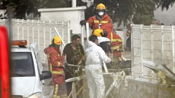 Un fallecido en una explosión de un depósito de gas nitroso