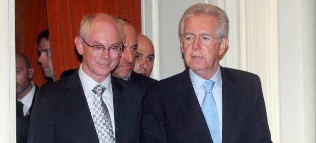 Van Rompuy y Mario Monti