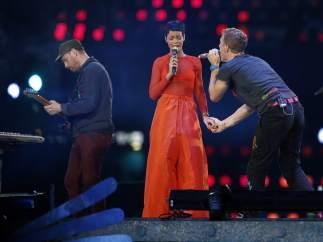 Rihanna y Chris Martin en los Juegos Paralímpicos