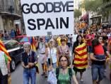 Multitudinaria Diada en Barcelona