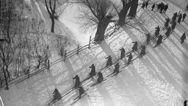 'Red Army Marching in the Snow', 1928