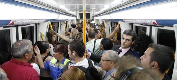 Un andén del metro en Madrid