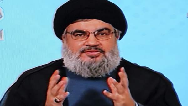 El jefe de grupo chií libanés Hizbulá, Hasan Nasralá.
