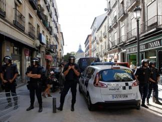 Cordón policial en Casablanca