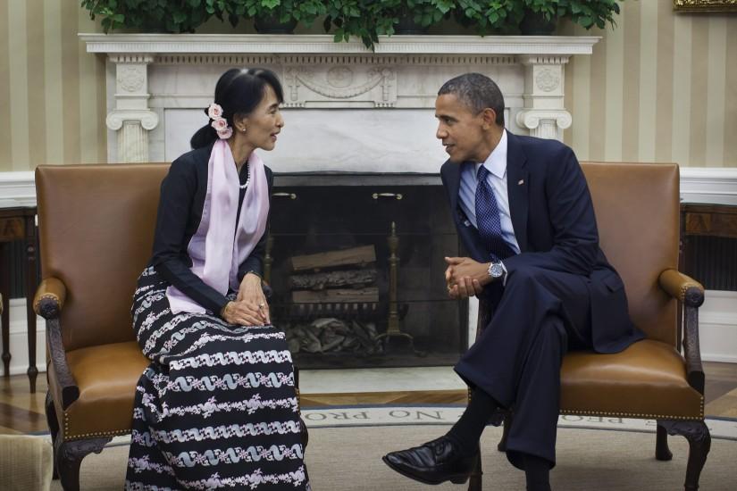 Medalla de Oro de EE UU a Suu Kyi