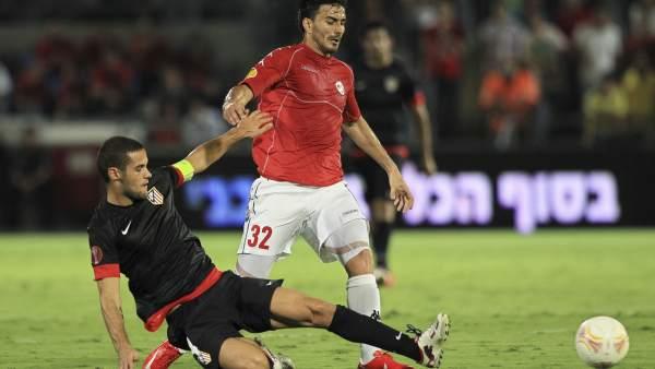Mario Suárez en el Hapoel - Atlético