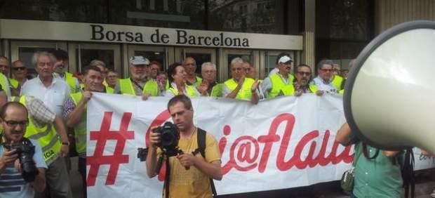 Yayoflautas en Barcelona.