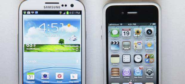Samsung Galaxy S III y iPhone