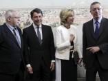 Leguina, González, Aguirre y Gallardón en la Asamblea de Madrid