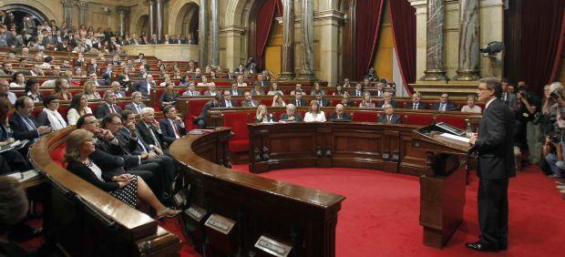 Artus Mas, en el Parlament
