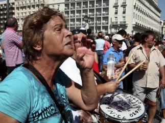 Huelga contra los recortes en Grecia