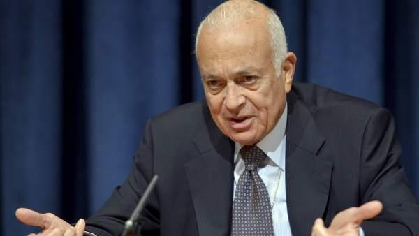 El secretario general de la Liga Árabe, Nabil Al Arabi