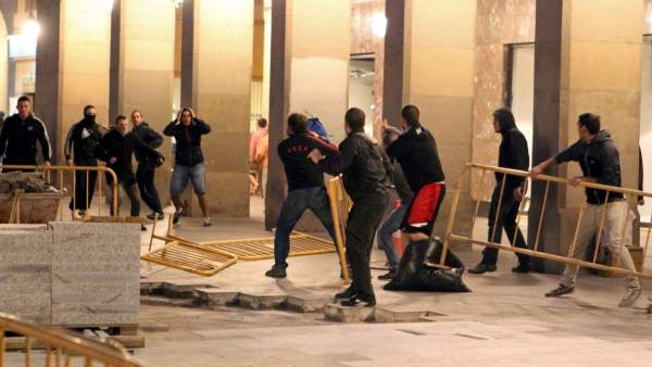Incidentes en Zaragoza