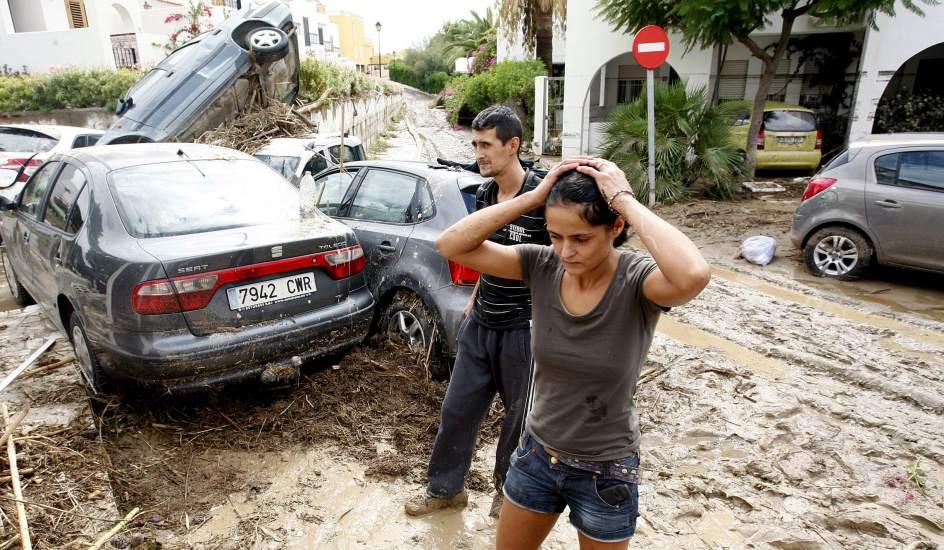 Desesperación el viernes pasado en Vera, Almería (EFE)