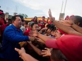 Multitudinario acto de Hugo Chávez