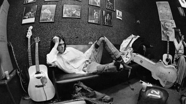En el camerino del Electric Factory, Philadelphia,1970