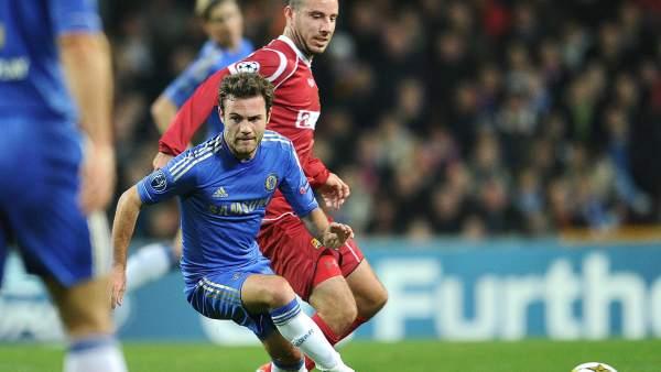 Mata con el Chelsea