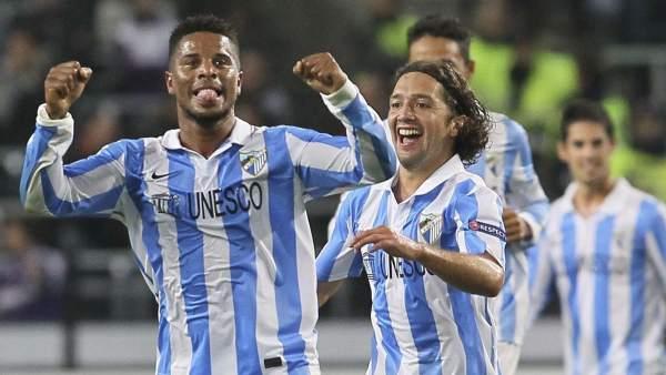 Gol de Eliseu con el Málaga