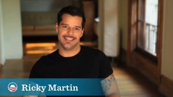 Ricky Martin pide el voto para Obama
