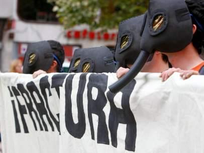 Manifestación contra el 'fracking'