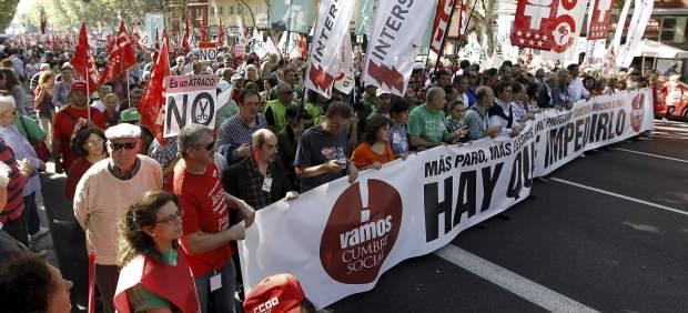 Marcha de la Cumbre Social en Madrid