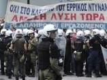 Protestas en Grecia por la visita de Merkel