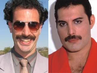 Baron Cohen y Freddie Mercury