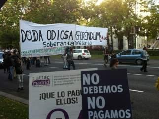 """Marcha contra la """"deuda odiosa"""""""